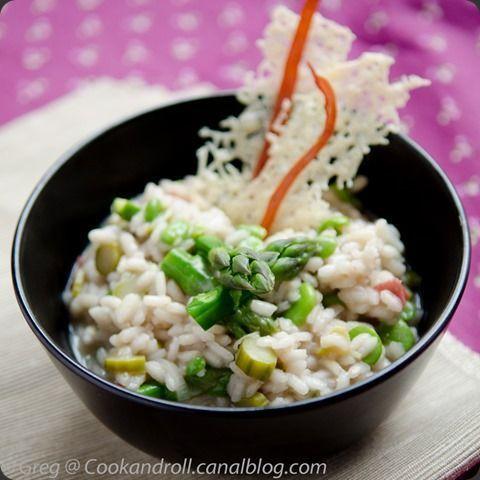 Risotto aux asperges et fèves des marais #YummyAsperge