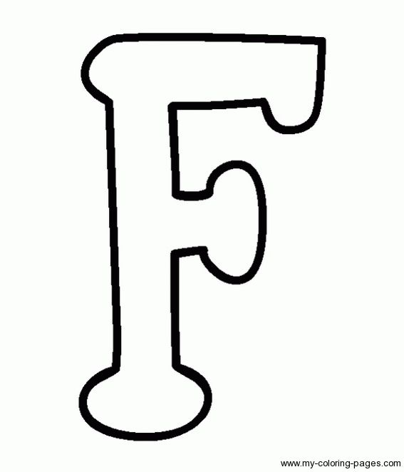 Coloring Capital Letters F