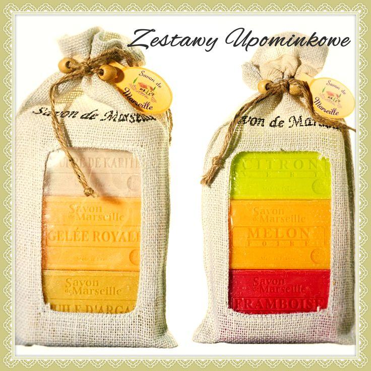 Któż nie lubi prezentów? Ja lubię je bardzo a zwłaszcza jeśli są ekologiczne i naturalne, tak jak zestaw oryginalnych mydeł marsylskich w jutowym woreczku.
