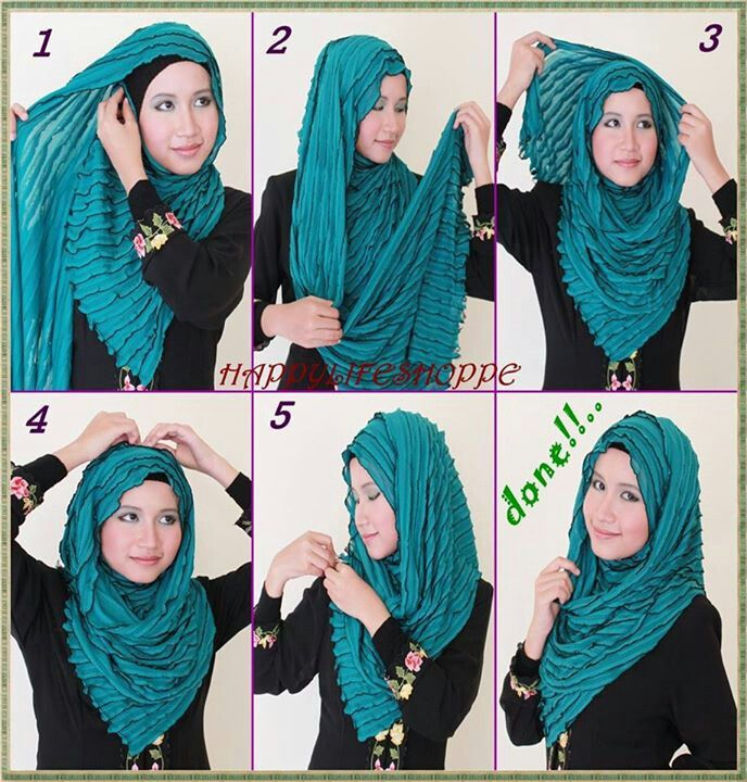Hijab shawl tutorial | DIY: Hijab | Pinterest | Hijabs, Shawl and ...
