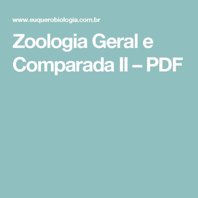Zoologia Geral e Comparada II – PDF
