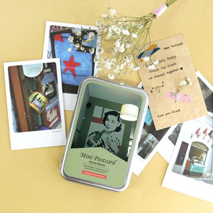 "Praha Instax Mini Photo Card 2.17"" x 3.35"" 40 Sheets per Tin Thank You Card"