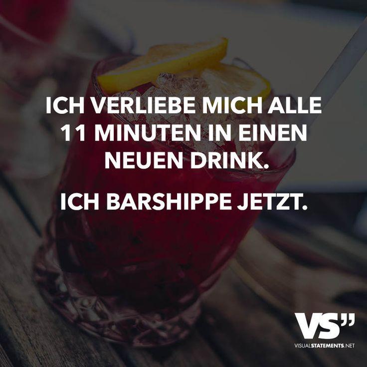Ich verliebe mich alle 11 Minuten in einen neuen Drink. Ich Barshippe jetzt