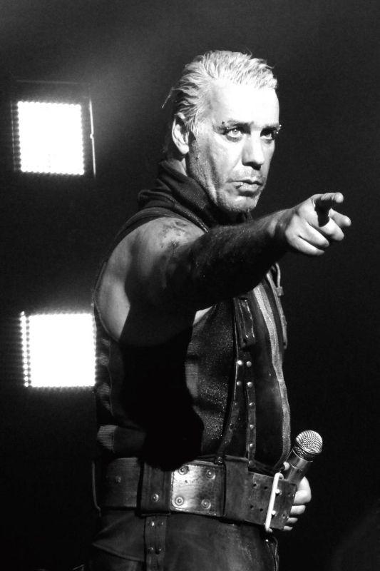 """Till Lindemann during """"Du hast"""" - VW Heizkraftwerk, Wolfsburg, 5/4/2013  #TillLindemann #Rammstein"""