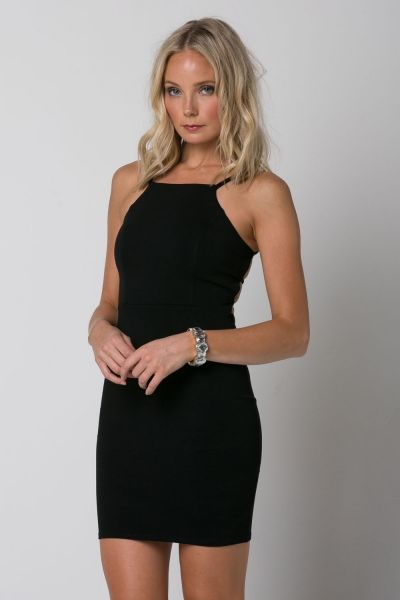 VERONA TANK DRESS WITH BACK SPAGHETTI DETAIL