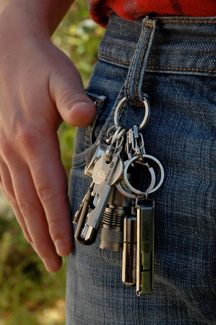Amazon.com : True Utility TU245 Key Ring System with 5 Key Shackle : Key Tags And Chains : Patio, Lawn & Garden
