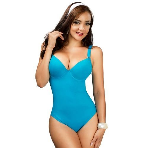 GORGEOUS Slimming Swimsuits Fajas in  Ava Blue One Piece Bathing Suit ALL SIZES AVAIL SALE