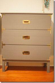 Ikea Rast dresser redone as campaign furniture