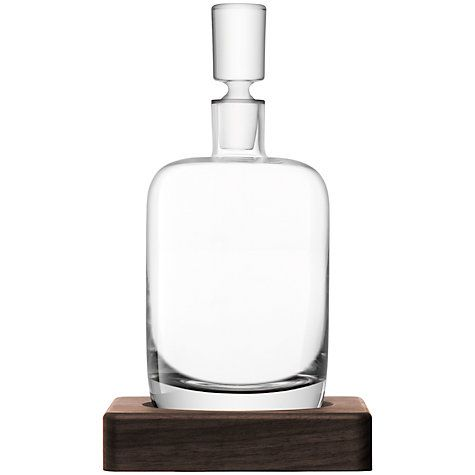 £80 LSA International Straight Whisky Decanter with Walnut Base