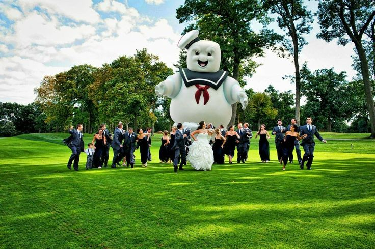 Behold, The Most Magnificent Wedding Photo You Will See Today. And these people had an AWESOME RSVP card.
