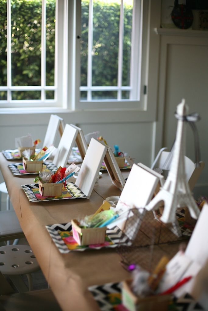 What a lovey setup for an art party @deborahjustine