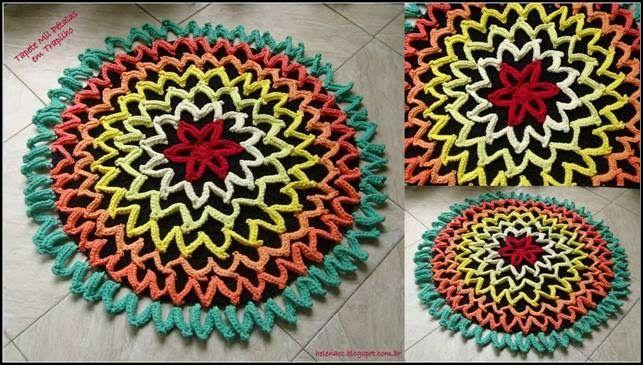 Häkelmuster Fundgrube Teppich häkeln  crochet rug