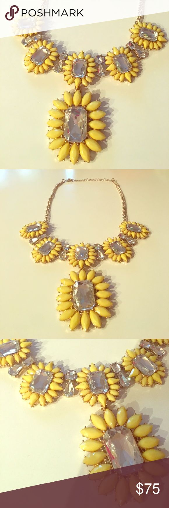 GORGEOUS Yellow Floral Necklace Yellow statement necklace from the Nordstrom Collection. 10 inches long - perfect for a elegant night out or to dress up a causal outfit. Make me an offer! Nordstrom Jewelry Necklaces