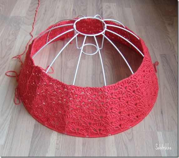 48 best crochet lampshades images on pinterest crochet lampshade wire frame lampshade crocheted wshell pattern greentooth Gallery