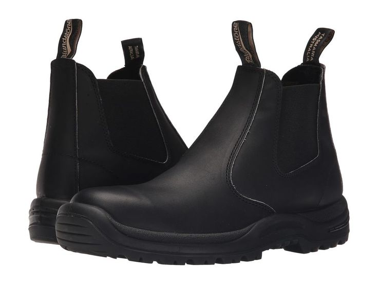 Blundstone Women's BLACK PREMIUM LEATHER STEEL TOE CAP Boots 491 #Blundstone #Boots