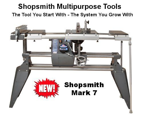 Shopsmith Mark 7 Table Saw Disc Sander Lathe