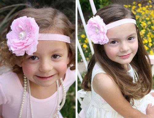Chabby Chic flower headband tutorial