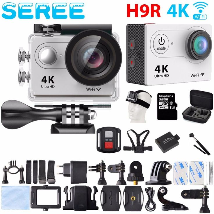 Seree Action Camera Remote Control Ultra HD 4K WiFi 170 Helmet action Cam go waterproof pro Sport camera //Price: $0.00//     #electonics