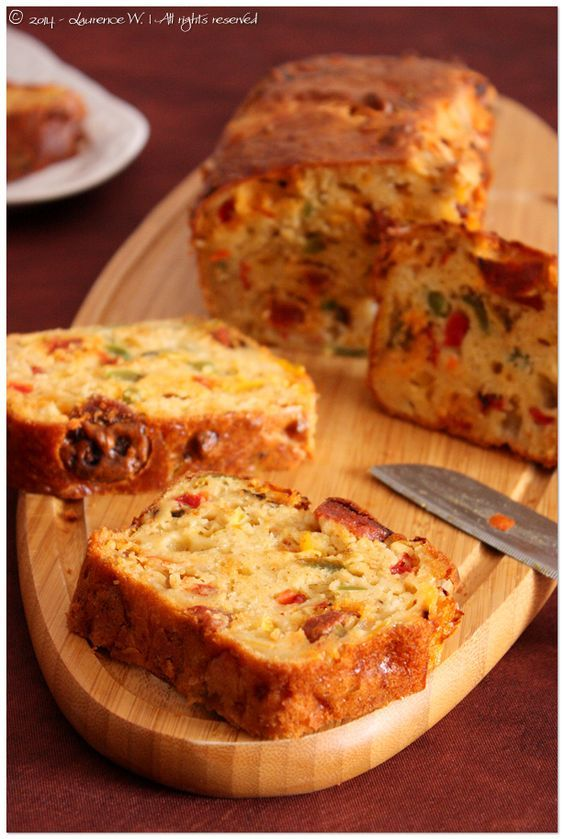 Cake au chorizo et aux poivrons Plus
