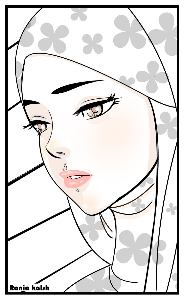 hijab girl pink ink manga