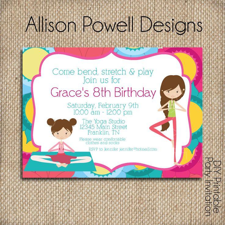 Gymnastics Birthday Party Invitations with perfect invitations design