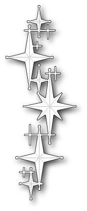 Poppy Stamps - Die - Celestial Star Border,$11.49
