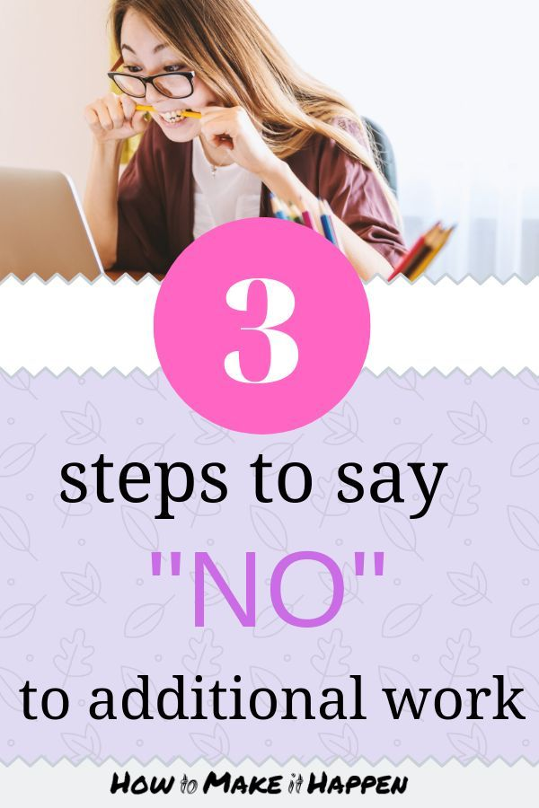 How To Say No To Additional Work In 2020