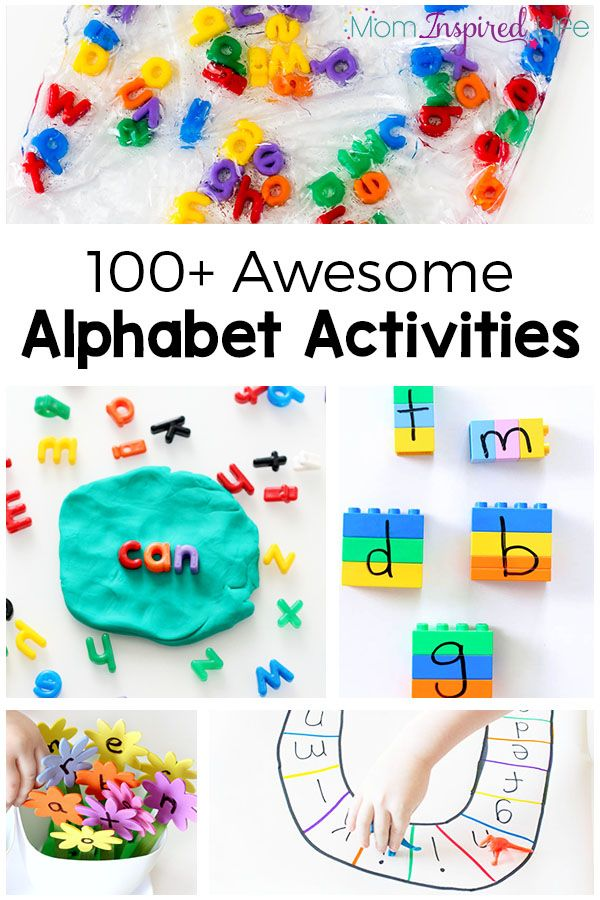 100+ awesome alphabet activities that your kids will love! Fun, hands-on and engaging ways to learn letters and letter sounds in…