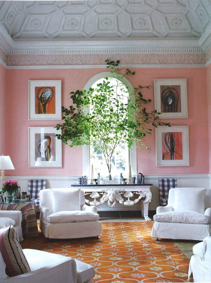 Pink Walls and Orange rug