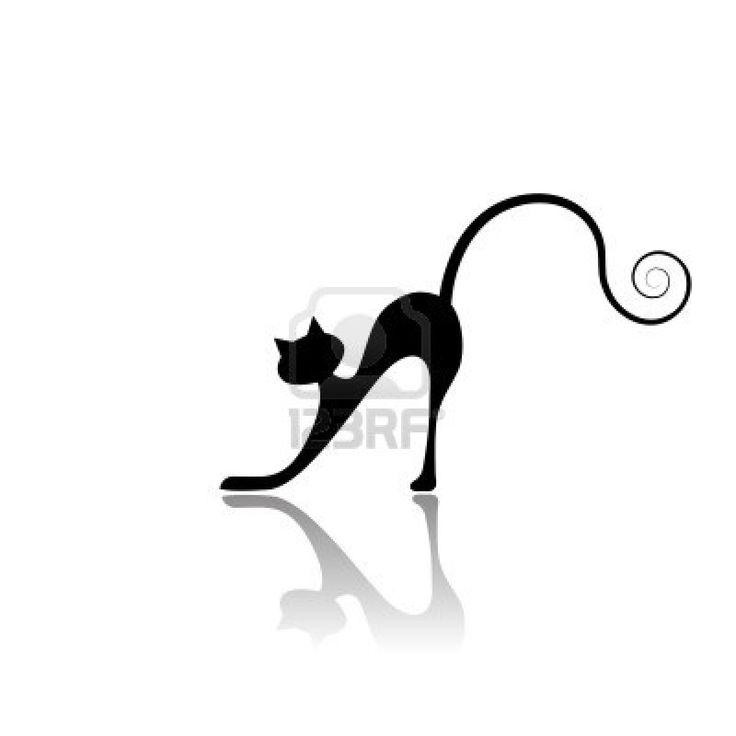 Sagoma gatto nero per il tuo design Archivio Fotografico - 3981238