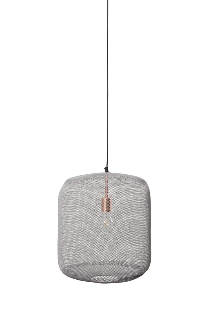 Zuiver Mesh pendant lamp projects a delicate pattern across its  surroundings | Mesh iron shade in