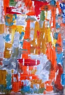 https://www.vangoart.co/mina-gavala/abstract-oil-1 This is an original art piece, not a mass produced. Title : abstract oil 1: i used only oil color and Palette Knife Type Scrapers