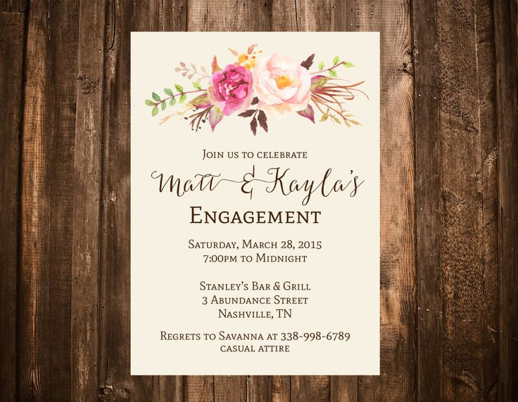 2628 best Engagement Party Invitations images on Pinterest 1920s - free engagement invitations