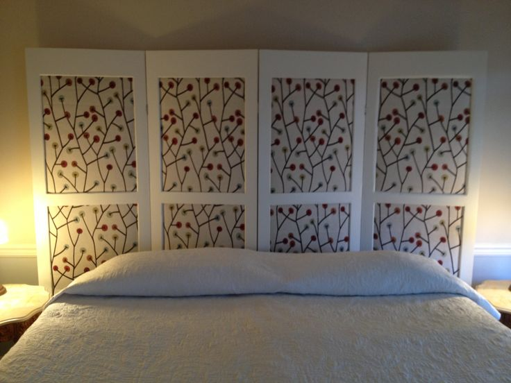 King Headboard From Antique Room Divider Screen Bedroom