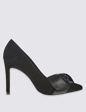 Suede Stiletto Court Shoes with Insolia® Marks & Spencers