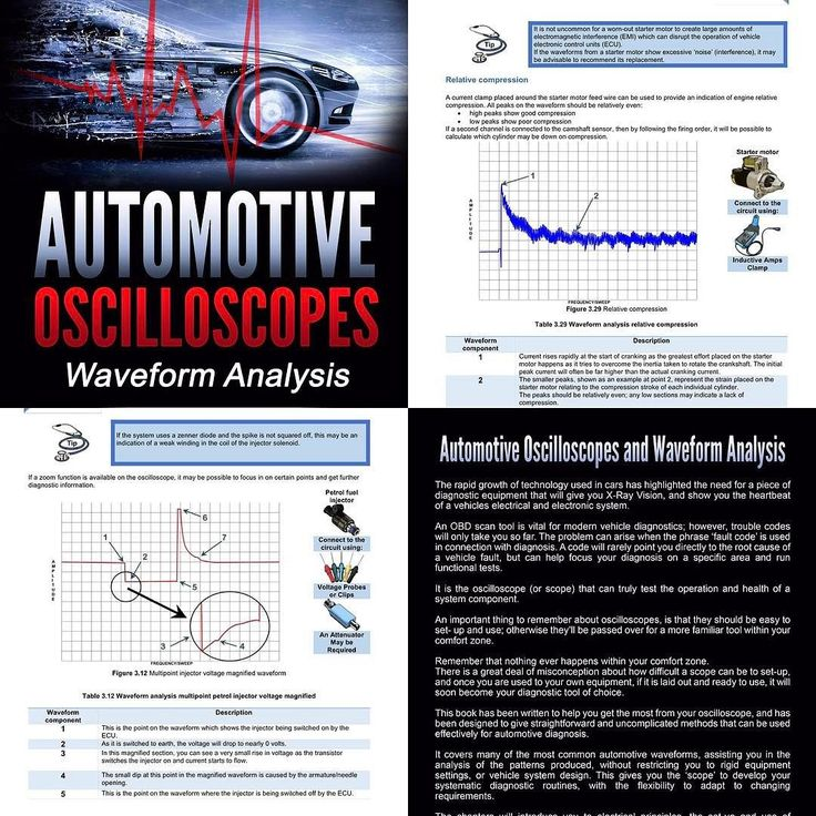 automotive oscilloscope & waveform analysis available