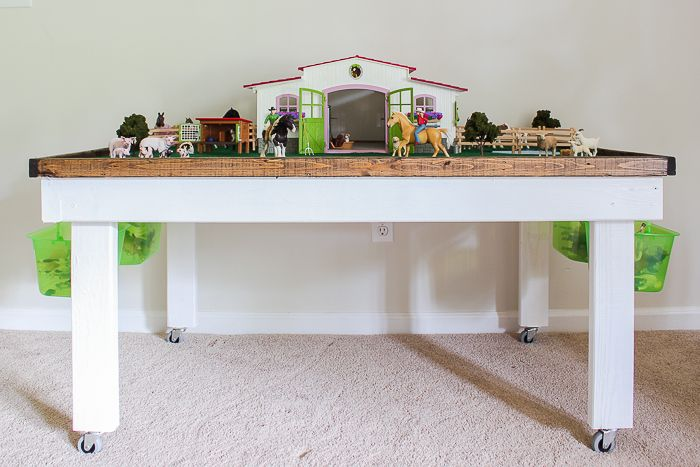 Diy Kids Play Table With Storage With Images Kids Play Table