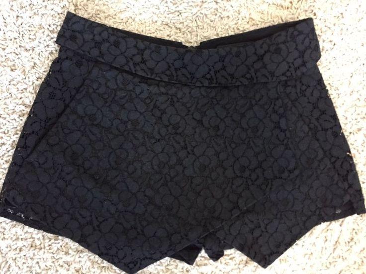 Aritzia TALULA Women s Ladies Size 00 Shorts Skort Black Lace Floral Fancy | eBay