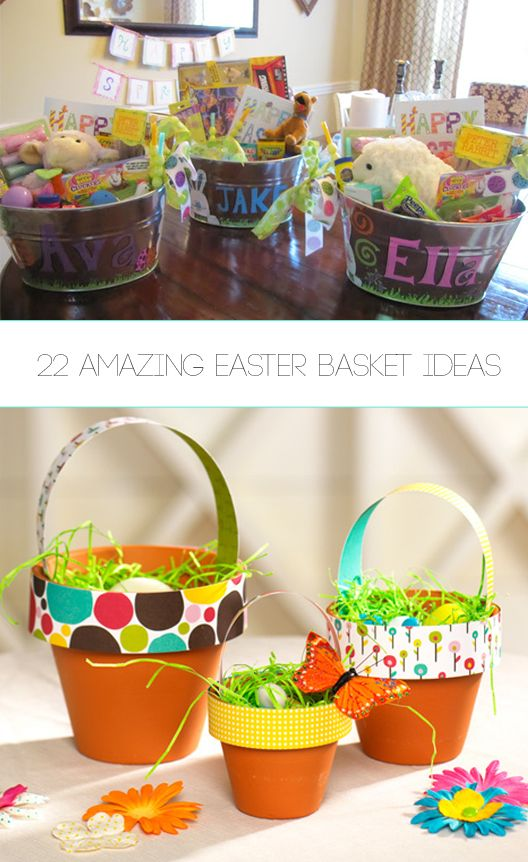 Creative Easter Basket Ideas - Fun Kids easter basket ideas and other things you can make for Easter