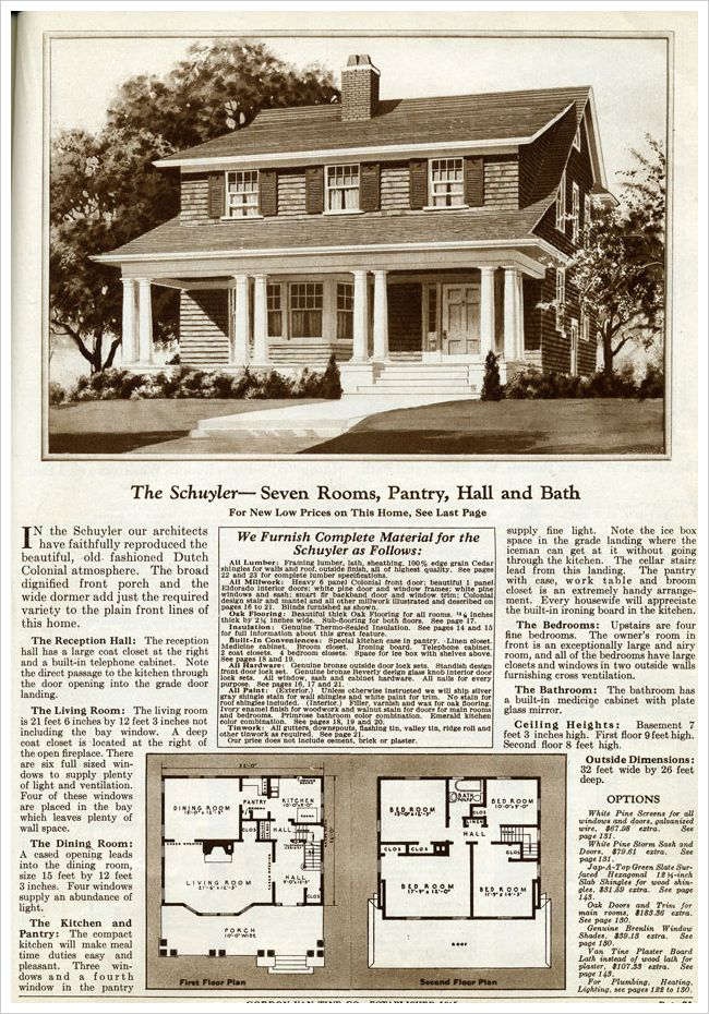 454 best images about vintage home plans on pinterest for Antique colonial house plans