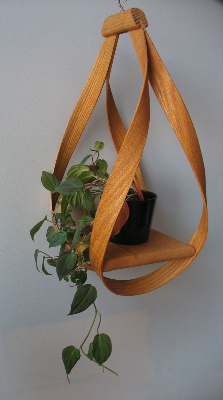 Bentwood Hanging Plant Holder 50 00 Via Etsy Hanging