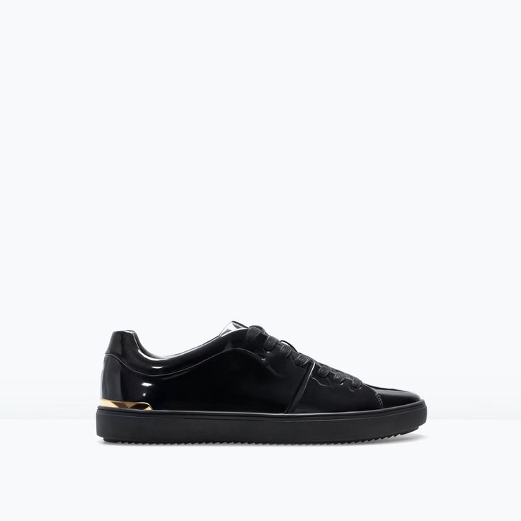 Image 1 of SHINY SNEAKERS WITH GOLD DETAIL from Zara