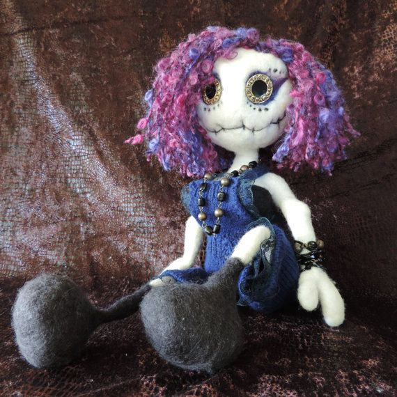 Hey, I found this really awesome Etsy listing at https://www.etsy.com/au/listing/485032431/sassy-gothic-poseable-feted-wool-rag