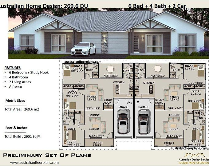 Etsy Your Place To Buy And Sell All Things Handmade In 2020 Duplex Design Duplex House Plans Duplex Floor Plans