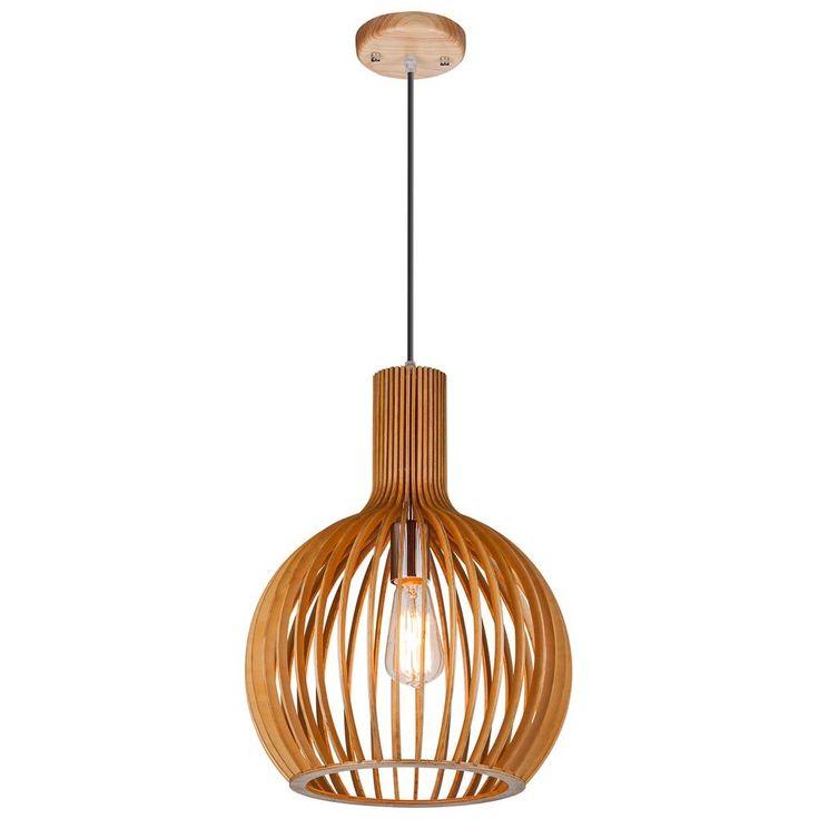 lichtpuntnederland.nl Hanglamp Merta 35 cm hout - Moderne hanglamp - Hanglampen