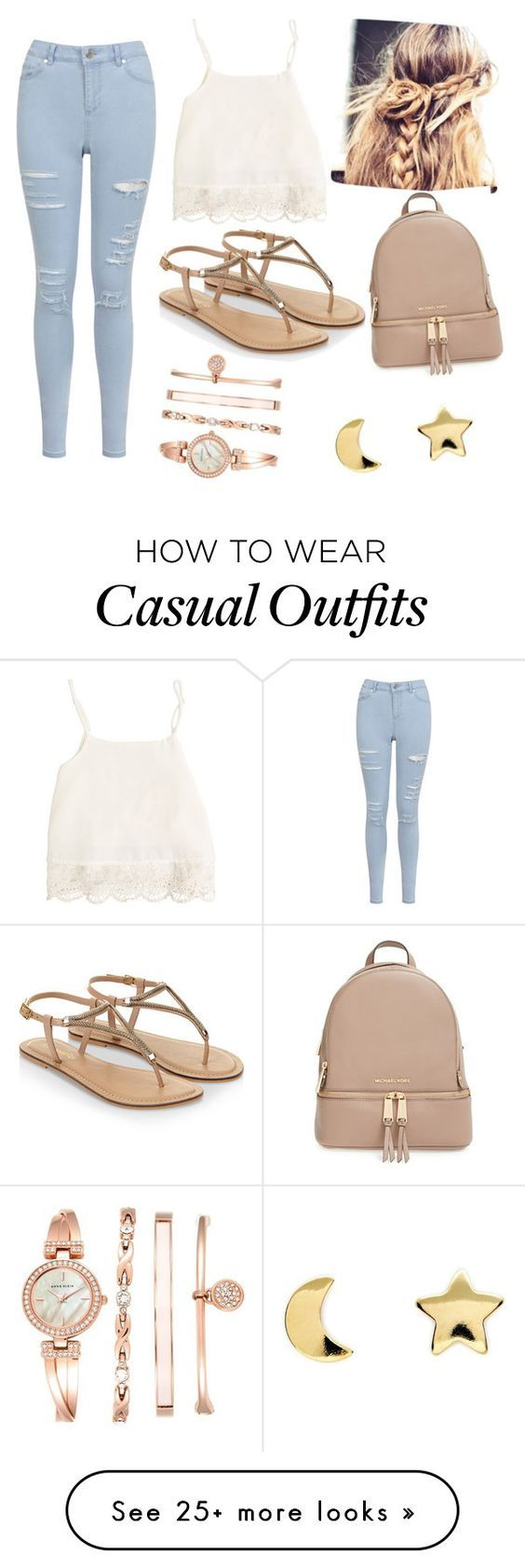 """Casual Day ♥"" by yanina-r-farfan on Polyvore featuring Miss Selfridge, Swell, Accessorize, MICHAEL Michael Kors, Anne Klein and Erica Weiner"