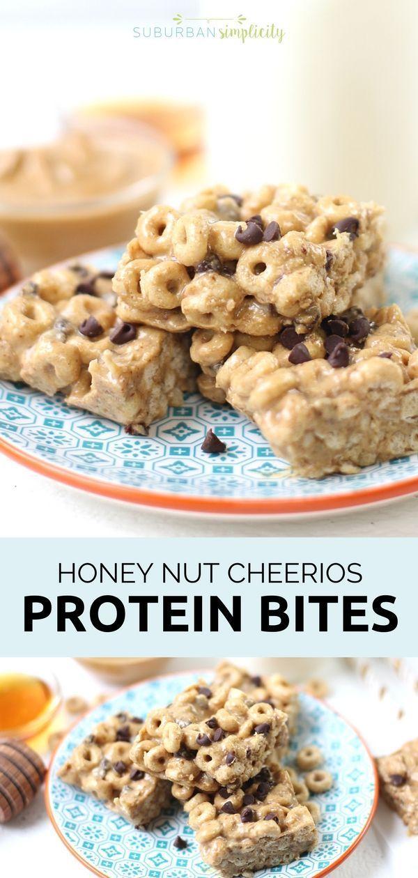 Honey Nut Cheerios Protein Bites Recipe Protein Bites Healthy Protein Snacks Cheerios Recipes
