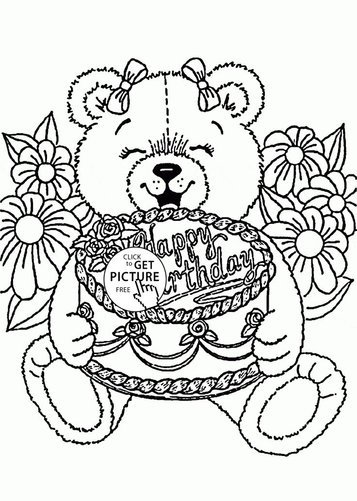 150 best Birthday coloring pages images on Pinterest | Coloring ...