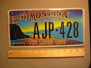 billings mt motto magic city   Collectibles > Transportation > Automobilia > License Plates > US ...