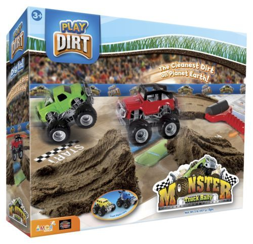 Play Dirt Monster Truck Rally Clay Like Building Roads Tunnels Cars Creative Fun #all-proceeds-go-to-help-the-disabled